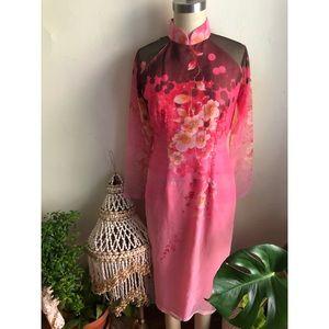 Floral Retro Vintage Kimono Japanese Tunic Dress